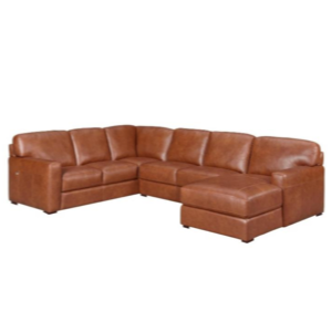 Nick 6 Seater Leather Modular + Chaise by M&D