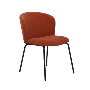Ellis Dining Chair - Terracotta Velvet