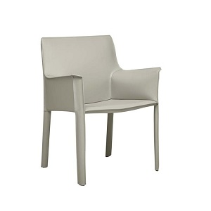 Franklin Arm Chair - Linen Grey PU