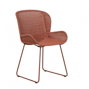Granada Butterfly Closed Weave Dining Chair - Terracotta