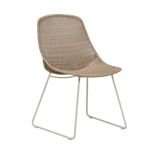 Granada Scoop Closed Weave Dining Chair - Linen
