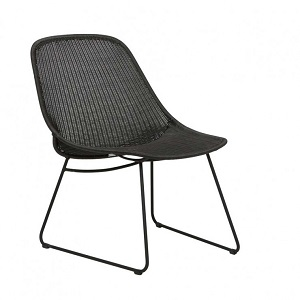 Granada Scoop Closed Weave Occasional Chair - Licorice