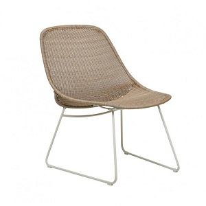Granada Scoop Closed Weave Occasional Chair - Linen