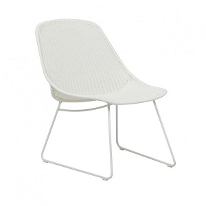 Granada Scoop Closed Weave Occasional Chair - White