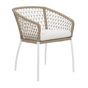 Positano Woven Arm Chair - Biscuit