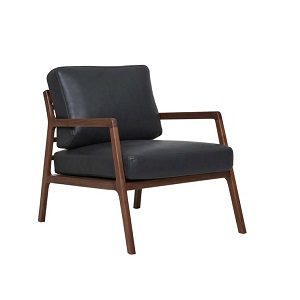Sketch Nysse Occasional Chair - Black Leather