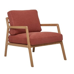 Sketch Nysse Occasional Chair - Rust Linen