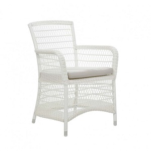 Southport Dining Arm Chair - White