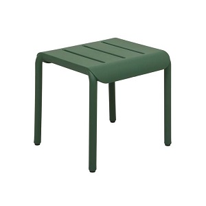 Outo Hocker Side Table - Dark Green