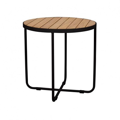 Cali Cross Side Table - Black
