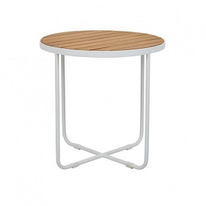 Cali Cross Side Table - White