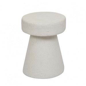 Granada Cork Side Table - White Fleck