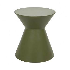 Granada Hourglass Side Table - Moss