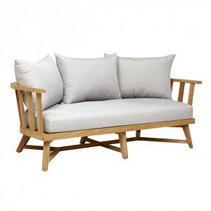 Sonoma Slat 3 Seater Sofa - Snow