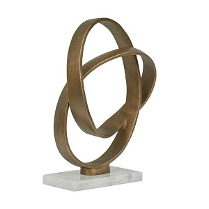 Harira Loop Sculpture - Antique Brass