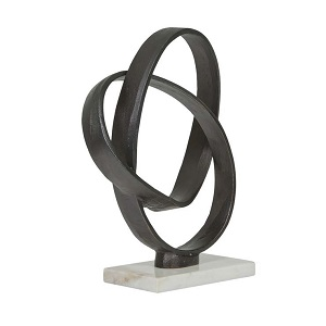 Harira Loop Sculpture - Black Metal