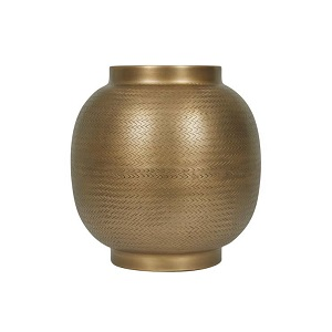Harira Woven Curve Planter - Antique Brass