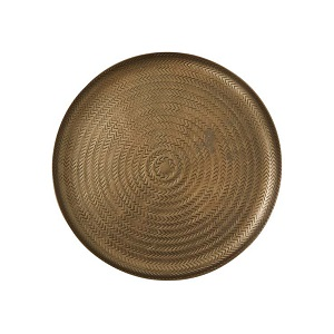 Harira Woven Flat Platter Small - Antique Brass