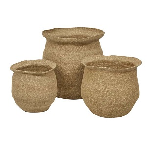 Lark Woven Set of 3 Baskets - Natural