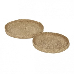 Lark Woven Set of 2 Trays - Natural