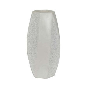 Rufus Curve Marble Vessel - White