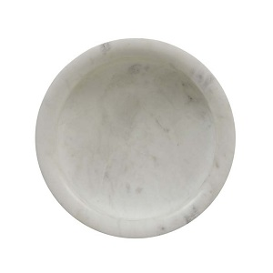 Rufus Lip Marble Bowl - White