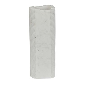 Rufus Textured Marble Vessel Large - White