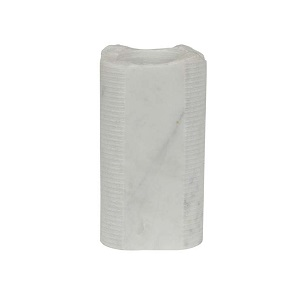 Rufus Textured Marble Vessel Small - White