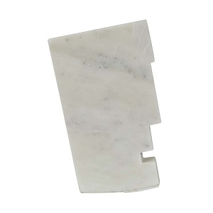 Rufus Totem Marble Object - White