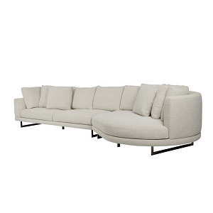 Hugo Grand Right Chaise Set - Oat Boucle