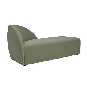 Juno Curve Day Bed - Sage Velvet