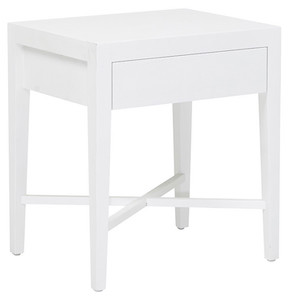 Ascot Open Bedside - White