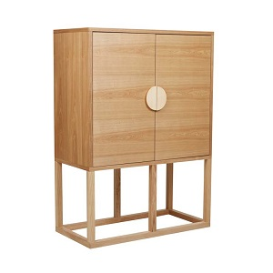 Benjamin Bar Cabinet - Natural Ash