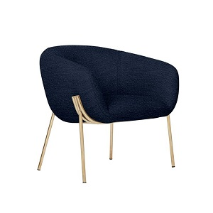 Albie Occasional Chair - Navy Boucle