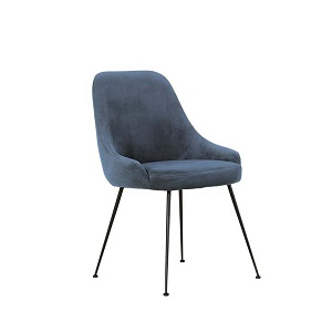 Dane Dining Chair - Steel Blue