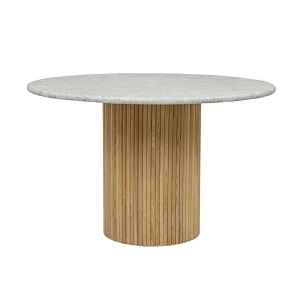 Benjamin Ripple Marble Dining Table - Natural