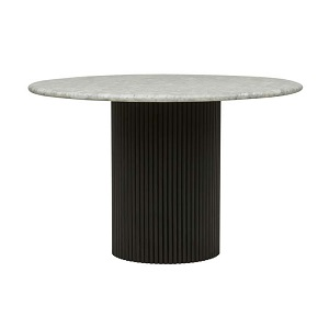 Benjamin Ripple Marble Dining Table - Black