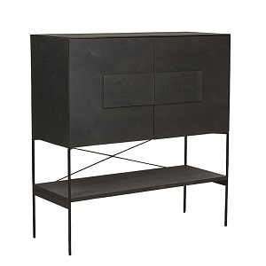 Huxley Bar Cabinet - Black Oak
