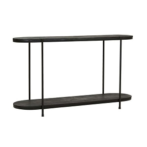 Merricks Oval Console - Matt Black