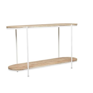 Merricks Oval Console - White
