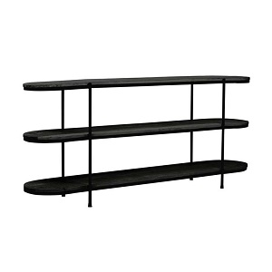 Merricks Oval Shelf Console - Matt Black
