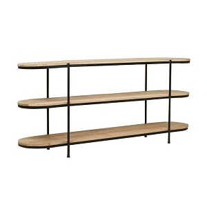 Merricks Oval Shelf Console - Black