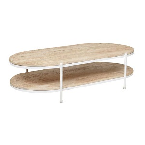 Merricks Oval Coffee Table - White
