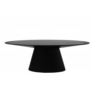 Classique Oval Dining Table - Matt Dark Oak
