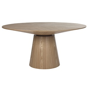 Classique Round Dining Table 6S - Natural Ash