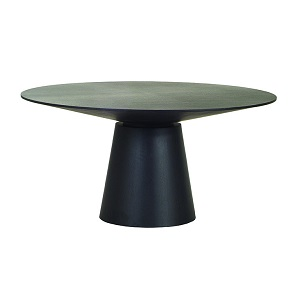 Classique Round Dining Table 6S - Matt Dark Oak