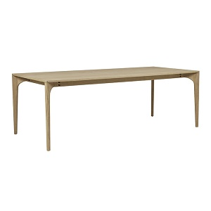 Huxley Curve Dining Table 8s - Oak