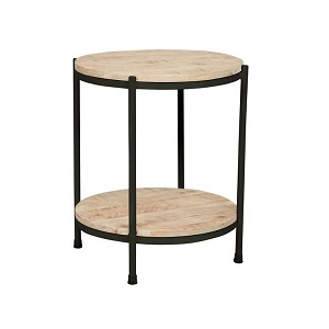 Merricks Round Side Table - Black