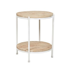 Merricks Round Side Table - White