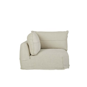 Cove Seamed 1 Seater Corner Sofa - Shell Linen